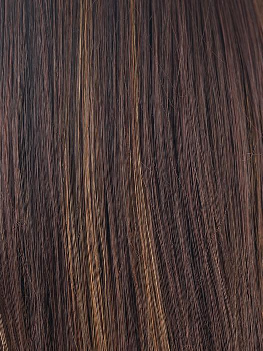 JAVA-FROST | Dark Brown base with Gold Blonde and Light Auburn evenly blended highlights