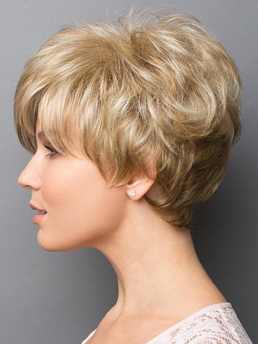 GIA by Rene of Paris in CREAMY-TOFFEE | Light Platinum Blonde and Light Honey Blonde evenly blended