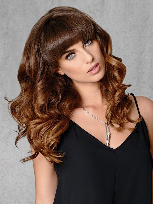 "16"" FINELINE HUMAN HAIR EXTENSIONS by hairdo in R10 CHESTNUT 
