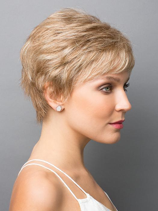 Zoe by Rene of Paris in STRAWBERRY-SWIRL | Honey blonde and platinum blonde evenly blended