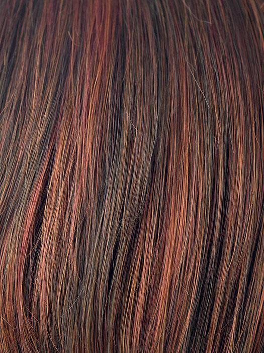 CAYENNE-SPICE | Copper Red and Brown Evenly Blended Base with Dark Brown Highlights