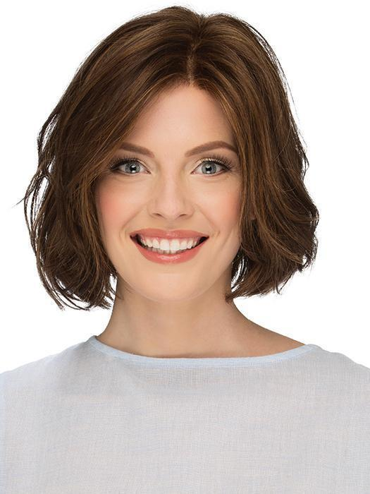 The Sage Wig by Estetica is a simple yet elegant bob with the perfect amount of subtle waves
