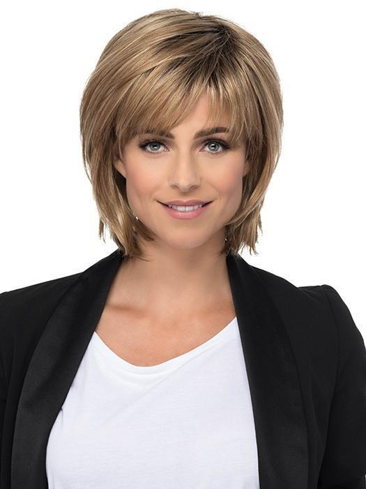 This mid length layered bob is picture perfect
