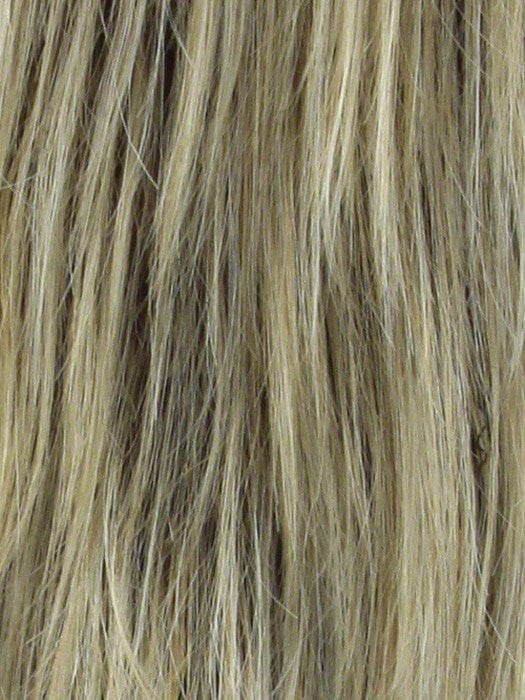 Color Sandlewood H = Rooted Dark with Dark Gold Blonde with Platinum Blonde highlights