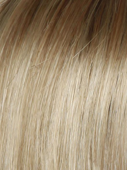 SS14/88 SHADED GOLDEN WHEAT | Medium Blonde Streaked With Pale Gold Highlights Dark Brown with Subtle Warm Highlights  Roots