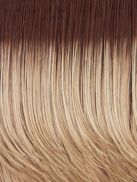 Color SS14/88 = Golden Wheat: Medium Blonde streaked with Pale gold highlights, medium brown roots