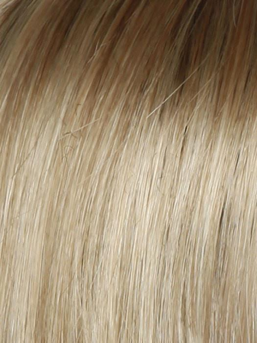 Color SS14/88 = Shaded Golden: Wheat Medium Blonde Streaked With Pale Gold Highlights And Medium Brown Roots