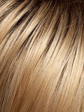 Color SS15/24 = CHAMPAGNE: Medium highlighted golden blonde and golden brown roots