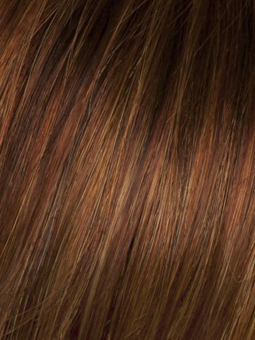 SS28 SHADED GLAZED FIRE | Fiery Red with Bright Red Highlights on Top and Dark Brown Roots
