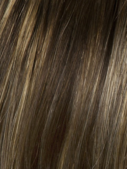 Color SS8/25 = Golden Walnut: Rich, Dark Brown With Gold Blonde Highlights and Dark Brown Roots