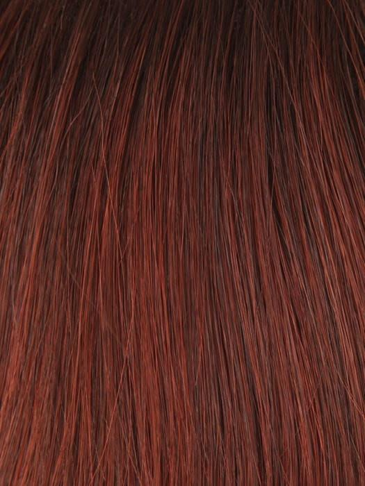 T130/6 SANGRIA | Bright Red Highlight with Dark Brown Root