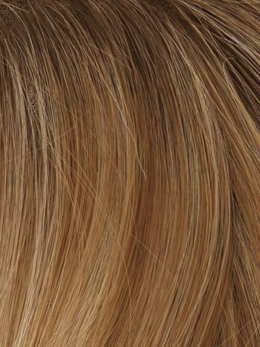 T71/6 NUTMEG FROSTED (ROOT) | Copper Highlight w. Dark Brown Root