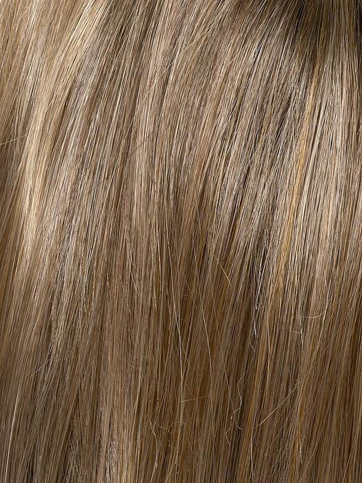 Color Toasted Sesame = Medium brown at roots-overall light brown higlighted with wheat blonde