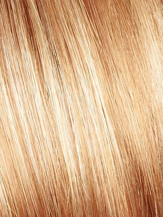 Color Vanilla Lush = Bright Copper and Platinum Blonde 50/50 blend tipped light
