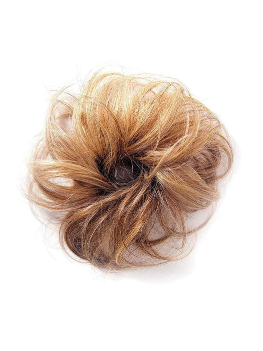 The Wavy Wrap lets you create a side chignon or a top knot bun with these softly curled layers