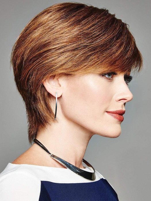 The Sheer Indulgence monofilament top creates natural movement and offers additional styling versatility