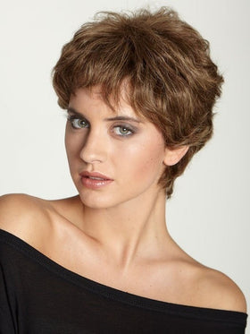 Aspen HH (Human Hair) Rose Wig | Short Pixie Cut | Color: 8/18/24H