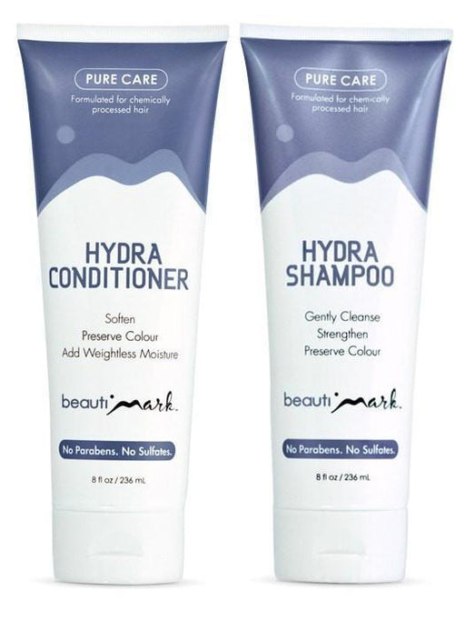 Daily Duo by BeautiMark - Pure Care Shampoo & Conditioner for Human Hair