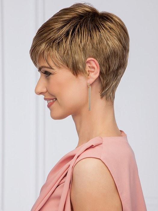 Textured bangs and tapered lengths create a soft effect | Color: GL11-25SS