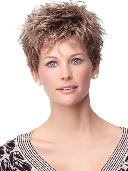 Short Pixie Wig with Personal Fit Cap | Color: G12+ Pecan Mist