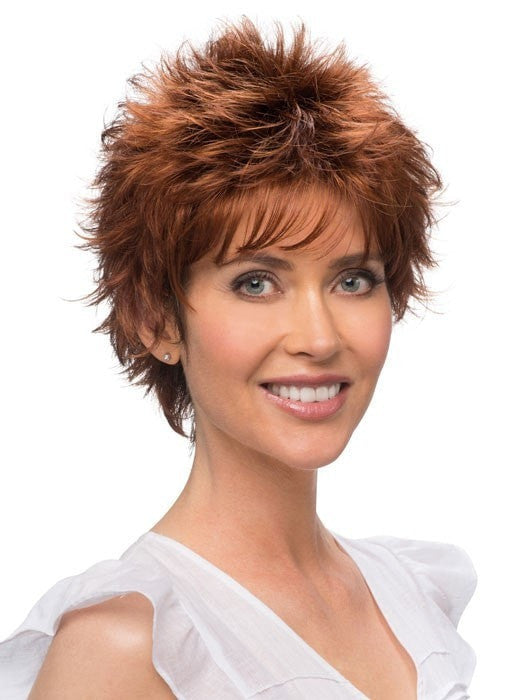 Color RH31 = DARK AUBRUN TIPPED WITH 3 RED TONES | Rosa by Estetica | Short Wig