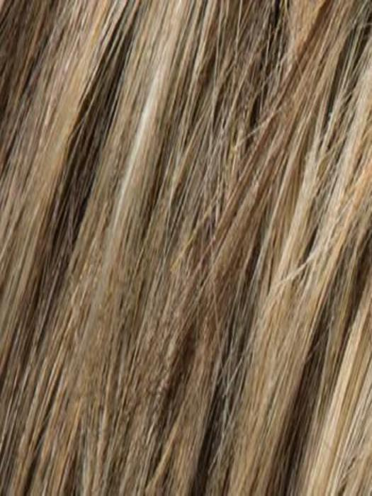 DARK SAND ROOTED | Light Brown base with  Lighest Ash Brown and Medium Honey Blonde blend and Dark Roots