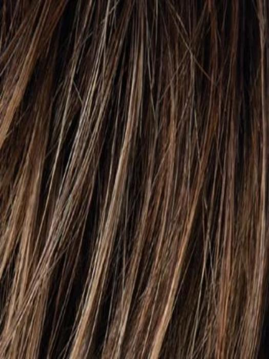 NOUGAT ROOTED | Medium-golden Brown blended with Medium ginger Blondes, with Medium Brown Roots
