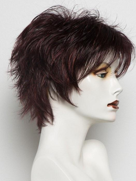 AUBERGINE MIX | Darkest Brown with hints of Plum at base and Bright Cherry Red and Dark Burgundy Highlights