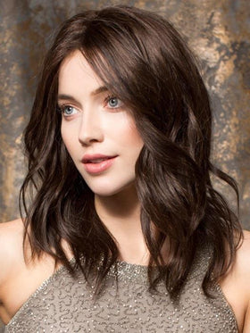 Remy Human Hair Wig EMOTION by Ellen Wille in DARK CHOCOLATE MIX