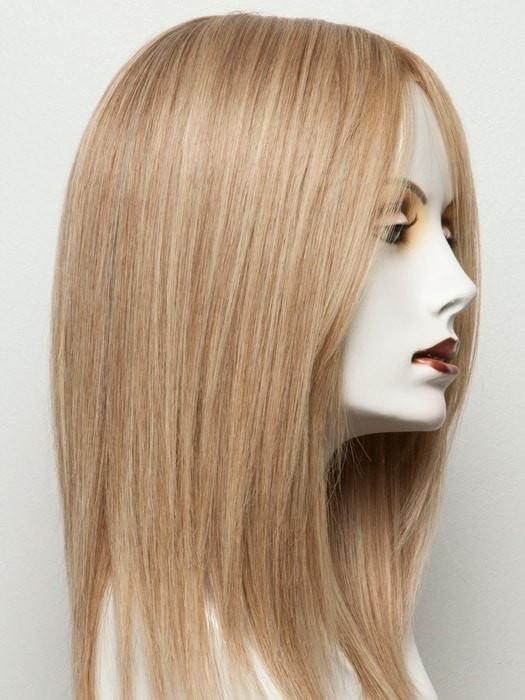 Color SANDY-BLONDE/ROOTED = Medium Honey Blonde, Light Ash Blonde, and Dark Ash Blonde blend with Dark Roots