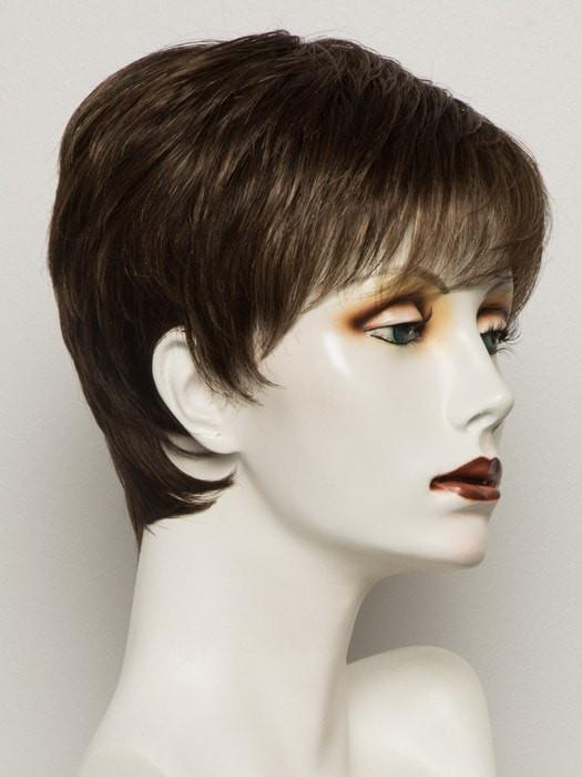COFFEE MIX | Medium to Dark Brown base with Honey Blonde highlights on the top only, darker nape