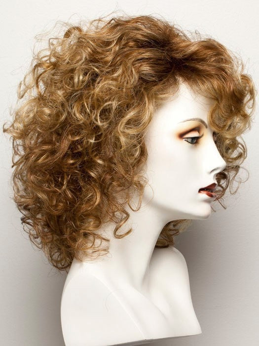 Color Ginger-Rooted = Light Honey Blonde, Light Auburn, and Medium Honey Blonde blend with Dark Roots