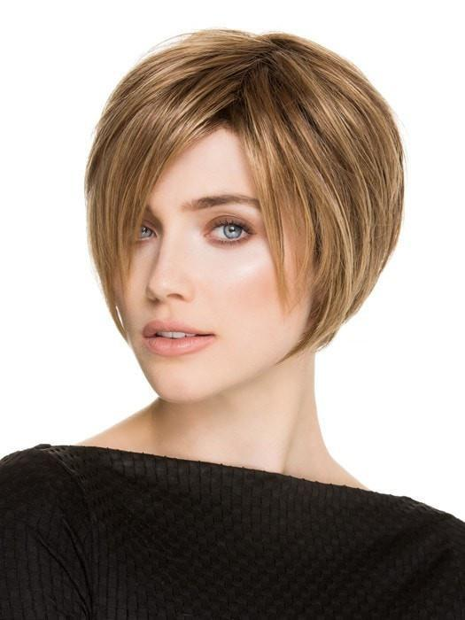 JAVA by Ellen Wille in LIGHT BERNSTEIN ROOTED | Light Auburn, Light Honey Blonde, and Light Reddish Brown Blend and Dark Roots