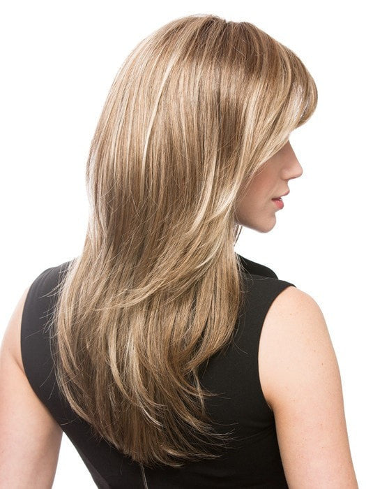 Color Dark-Sand-Rooted = Light Brown base with Lighest Ash Brown and Medium Honey Blonde blend and Dark Roots