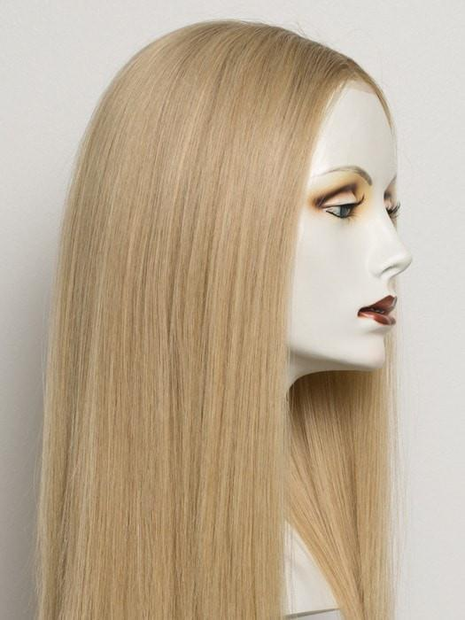 Color Champagne/Rooted = Light Ash Blonde, Medium Golden Blonde and Medium Honey Blonde blend and Dark Roots