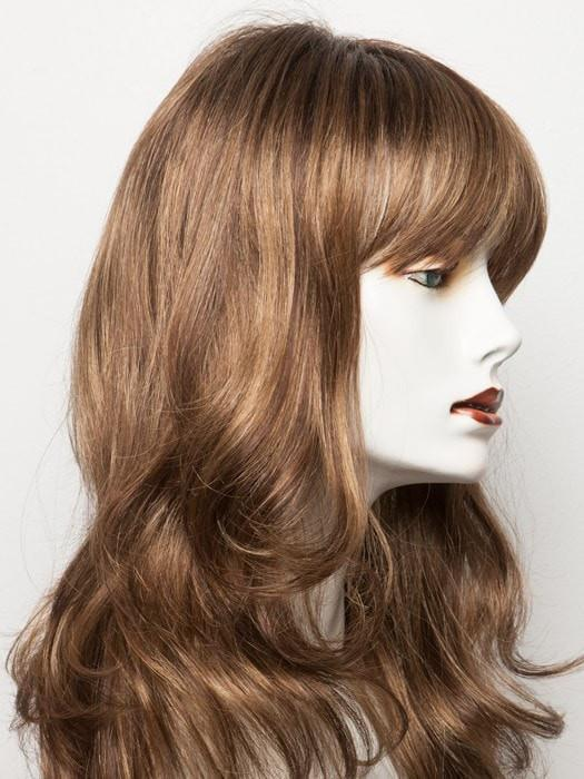HOT MOCCA ROOTED | Medium Brown, Light Brown, and Light Auburn blend with Dark Roots