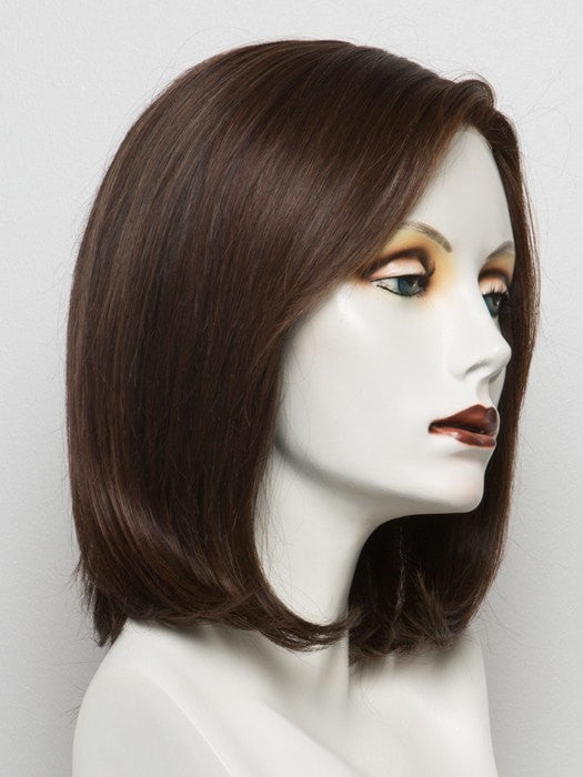 Color AUBURN-ROOTED = Dark Auburn, Bright Copper Red, and Warm Medium Brown blend with Dark Roots | Spirit by Ellen Wille