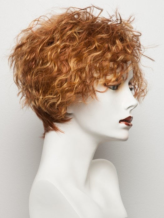 Color Mango-Lighted = Light Copper Red base with Strawberry Blonde highlights on the top only, darker nape