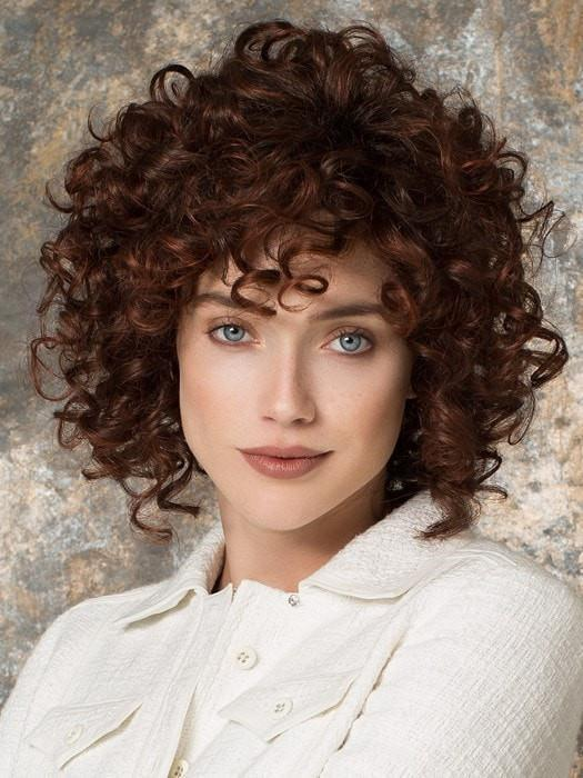 SUNNY by Ellen Wille in AUBURN ROOTED | Dark Auburn, Bright Copper Red, and Warm Medium Brown Blend with Dark Roots