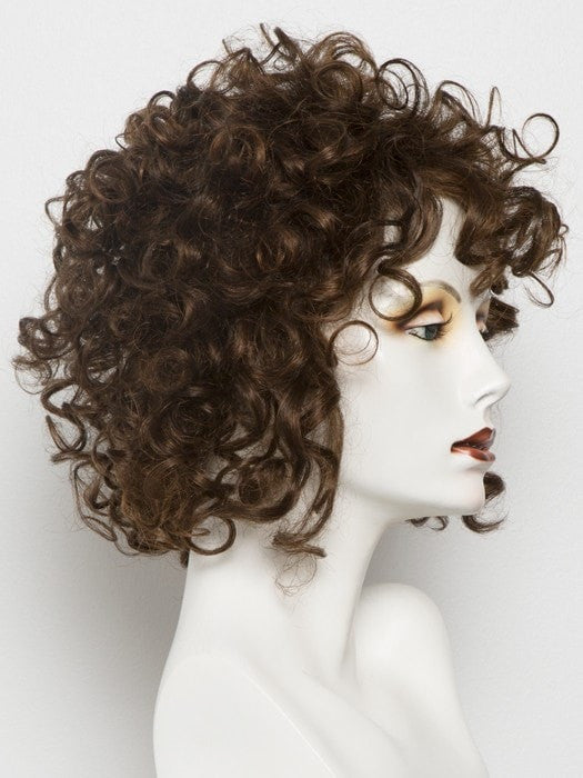 Color Auburn-Rooted = Dark Auburn, Bright Copper Red, and Warm Medium Brown blend with Dark Roots | Sunny by Ellen Wille