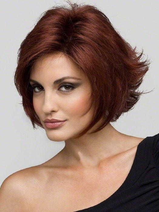 ANGIE Wig by Envy in 33/32 DARK RED | Auburn with Brighter Red highlights