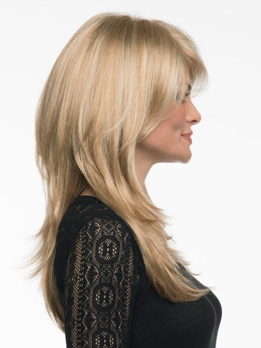 The straight synthetic hair is pre-styled and will keep its shape in any weather, even after you wash it!