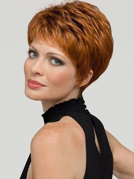 Envy Heather Wig : 100% Hand-tied Lace Front Short Blend Wig