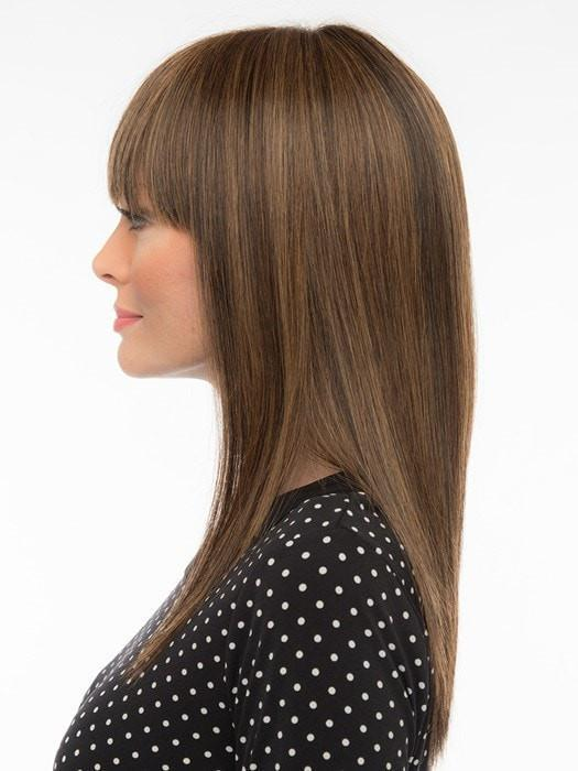 Made with trademarked Envy hair, which consists of a unique blend of 30% human hair and 70% Heat Friendly Synthetic