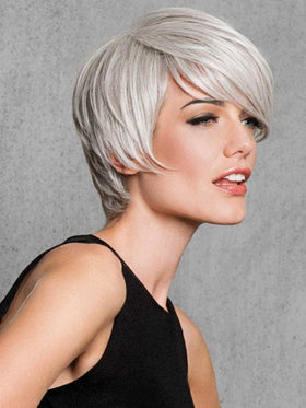 Color R56/60 = SILVER MIST | Angled Cut by HAIRDO