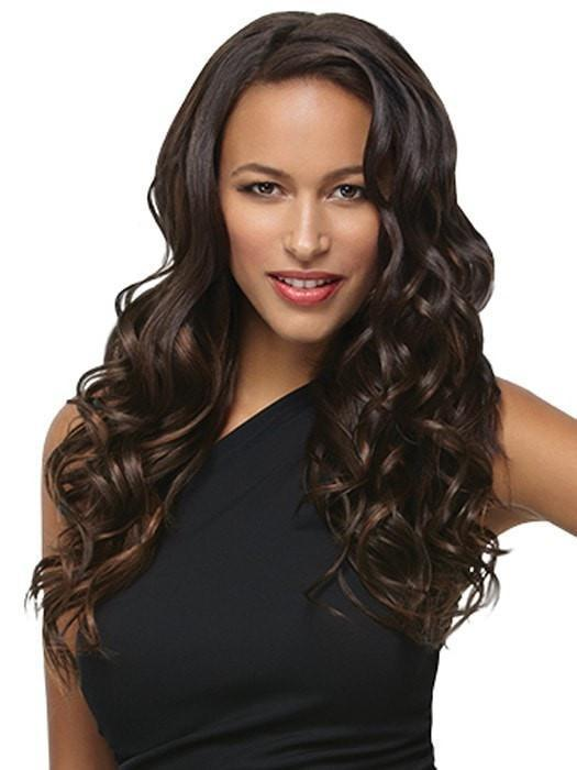 "R6 = DARK CHOCOLATE | 18"" Wavy Extension (8pc) Kit by Hairdo"
