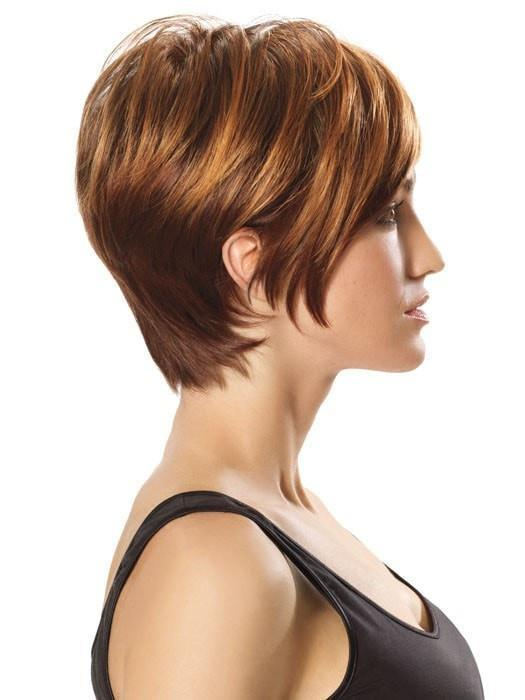 Color R3329S+ = Glazed Auburn: A Rich Dark Reddish Brown With Pale Peach Blonde Highlights