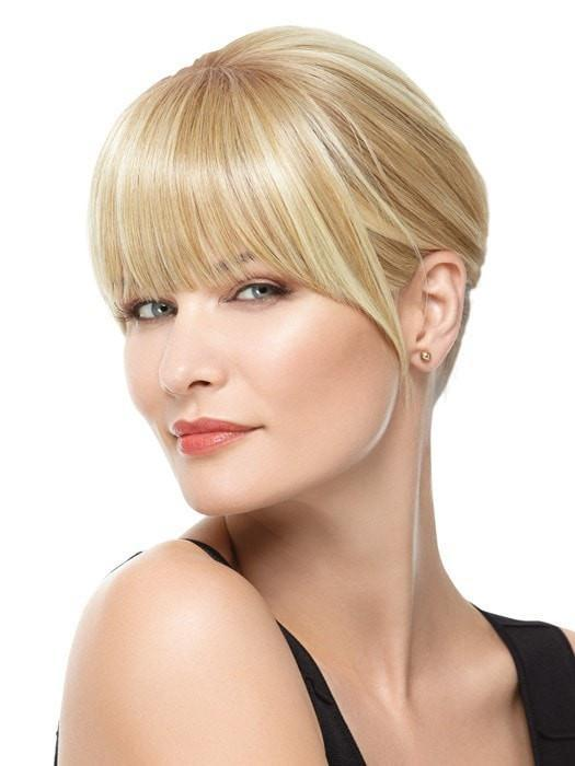 Color R14/88H = Golden Wheat: Medium Blonde Streaked With Pale Gold Highlights | Modern Fringe Clip-in Bang by Hairdo