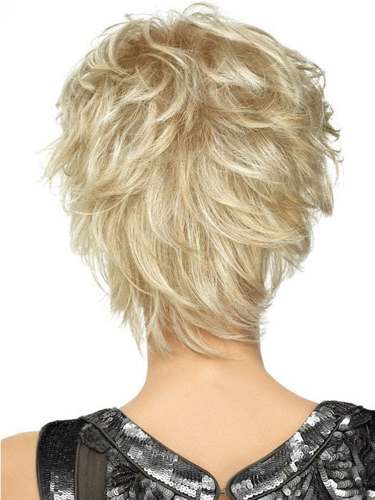 Color SS14/88 = Golden Wheat: Med Blonde streaked w/ Pale Gold highlights & Med Brown roots