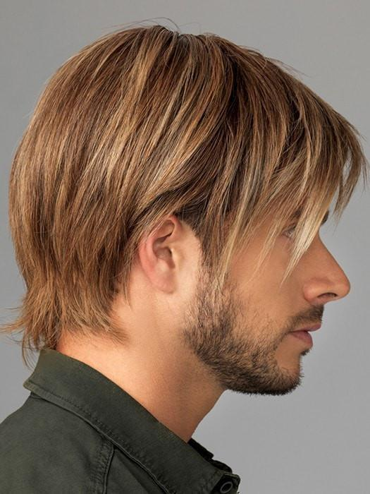 Silicone-Lined Ear Tabs and Extended Nape- Anti-slip to keep the wig securely in place | Color: M12/22SS